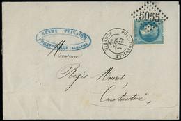 FRANCE Lettres N°28 OBL GC5015 + CAD T17, N°30 OBL GC5005 + CAD T17 Alger Pour La Suisse, N°29 OBL GC 5055+ CAD T17 - 1849-1876: Periodo Classico