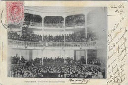 ESPAGNE PUIGCERDA THEATRE TEATRO DEL CASINO CERETANO SPECTATEURS 1904 ANIMATION A  VOI R - Andere