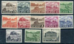 ICELAND 1950-54 Definitive Set MNH/**.  Michel 263-70, 275-77, 296-97 - Nuevos