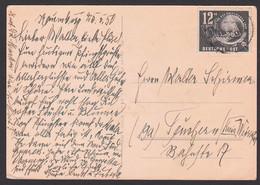 Naumburg 12+3 Pf Tag Der Briefmarke 1949 Mit Bayern Nr. 1 Und Lupe DDR 245 Auf Glückwunschkarte - Storia Postale