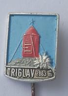 Triglav 2863m SLOVENIA -- CLIMBING SOCIETY, MOUNTAINEERING, ALPINISM PINS BADGES P4/7 - Alpinisme, Beklimming