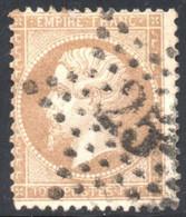 YT 21 - OBLITERATION ETOILE DE PARIS 25 - 1862 Napoléon III.