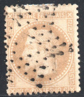 YT 28 B - OBLITERATION ETOILE DE PARIS EVIDEE PETIT LOGEMENT - 1863-1870 Napoléon III. Laure