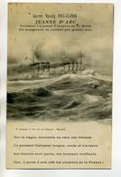 MILITARIA MARINE Guerre Navale 1914-15-16 JEANNE D'ARC Croiseur Manoeuvre De Combat Par Grosse Mer  /D05-2017 - Guerra 1914-18