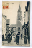 28 CLOYES Sur Le LOIR Belle Anim Sortie Eglise Rue 1912 écrite Longuement La Micheetterie     /D06-2017 - Cloyes-sur-le-Loir