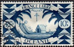 Océanie Obl. N° 156 - Série De Londres  - Le 10c Bleu-gris - Oblitérés