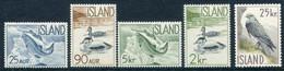 ICELAND 1959-60 Fauna  MNH / **.  Michel 335-39 - Nuevos