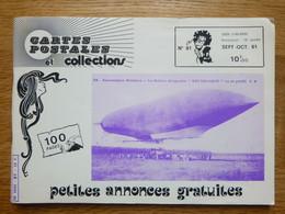 Magazine Cartes Postales Et Collections 1981 N° 81 - Ballon Dirigeable - Guillotine - Francés