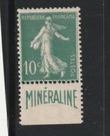 France N° 188A Mineraline Avec Charnière *  Légère - Ungebraucht