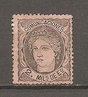 ESP 1870- Yv. N° 103  (*)  2m Noir S Saumon Allégorie Cote  12 Euro  BE  2 Scans - Nuevos