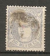 ESP 1870- Yv. N° 107  (o)  50m Allégorie Cote  0,5 Euro  BE  2 Scans - Usados