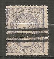 ESP 1870- Yv. N° 107 3 Traits (*)  50m Allégorie Cote  5 Euro  BE  2 Scans - Nuevos