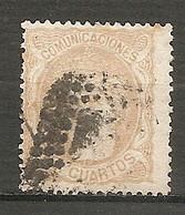 ESP 1870- Yv. N° 113   (o)  12c Allégorie Cote  10 Euro    2 Scans - Usados