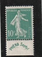 France N° 188 B Phéna Sans Charniére ** - Ungebraucht