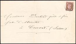 """FRANCE Lettre N°54, 10c Brun Sur Rose OBL CAD Type 17 """"Bône Algérie"""" (3 Fev 76) Sur Imprimé Pour La Suisse. TB - 1849-1876: Periodo Classico"""