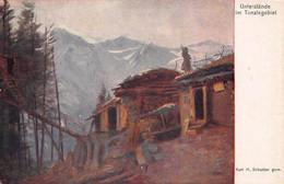 UNTERSTÄNDE Im TONALE GEBIET-ARTIST KARL SCHUSTER-ROTES KREUZ #518 WW1 MILITARY POSTCARD 51658 - War 1914-18