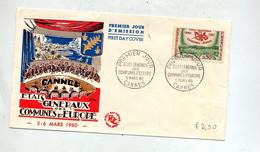 Lettre Fdc 1960 Cannes Etats Generaux Communes - 1960-1969