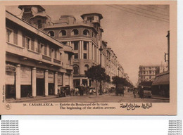 Maroc-Casablanca- Entrée Du Boulevard De La Gare - Sin Clasificación