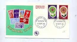 Lettre Fdc 1964 Paris Europa - 1960-1969