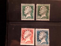 FRANCE PREOBLITERE 65/68 Oblitérés - 1893-1947