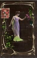 Portrait Jeune Femme Style Art Nouveau Recto Verso - Women
