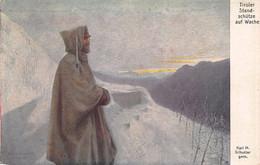 TIROLER STANDSCHÜTZE Auf WACHE~ROTES KREUZ #520-KARL SCHUSTER WW1 MILITARY POSTCARD 51660 - War 1914-18