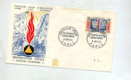 Lettre Fdc 1964 Paris Sapeur Pompier - 1960-1969