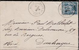 SAGE SUR LETTRE DE RULLY SAONE ET LOIRE 1881 - 1877-1920: Periodo Semi Moderno