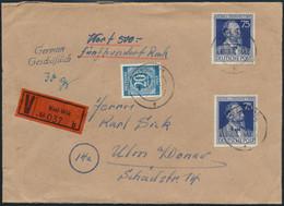 All. Besetzung Wertbrief MIF 20 Pfg. Kontollrat 924 Stephan 964 Kiel-Wik N. Ulm  - American,British And Russian Zone