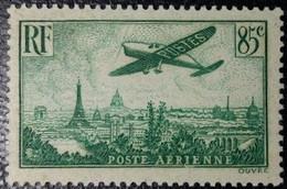 FRANCE Y&T N°8 Poste Aérienne Variété (voir Filet Du Cadre Sud Brisé)85c. Vert Foncé Neuf* MH TB... - 1927-1959 Nuevos