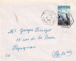 TP N° 1454 Sur Enveloppe De Urbanya Avec Cachet Hexagonal - 1961-....