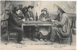 """L100H168 - Noste Ouvergne - """"La Manille Du Dimanche, Allons Coupe!..."""" - Hirondelle N°25 - Personaggi"""
