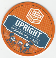 LONDON BREWING COMPANY  (LONDON, ENGLAND) - UPRIGHT SESSION IPA - KEG CLIP FRONT - Letreros