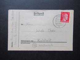 3.Reich 2.4.1944 Feldpost Wartheland Faltbrief Mit Inhalt Stempel Konin Nach Kallstadt In Der Westmark Gesendet - Covers & Documents