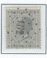 "COB 17A  Léopold Ier ""Profile"" -  Bureau De Poste De :   L 102  DUFFEL - 1865-1866 Perfil Izquierdo"