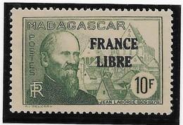 Madagascar N°254 - France Libre - Neuf ** Sans Charnière - TB - Unused Stamps