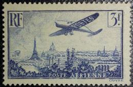 FRANCE Y&T N°12 Variété (voir Filet Du Cadre Brisé+++) Poste Aérienne 3Fr. Outremer Neuf* MH - 1927-1959 Nuevos