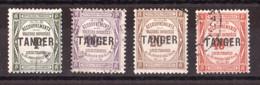 Maroc - 1918 - Timbres-Taxe N° 42 à 45 Oblitérés - Tanger - Segnatasse
