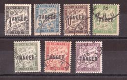 Maroc - 1918 - Timbres-Taxe N°352 à 41 Oblitérés - Tanger - Segnatasse