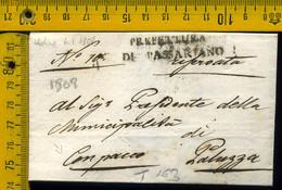 Prefilatelica Con Testo  Passariano Udine Paluzza - 1. ...-1850 Prephilately