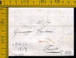Prefilatelica Con Testo Levico Trento - 1. ...-1850 Prephilately
