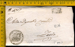 Prefilatelica Con Testo Verona Zevio - 1. ...-1850 Prephilately