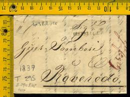 Piego Con Testo Austria Innsbruck Roveredo - 1. ...-1850 Prephilately