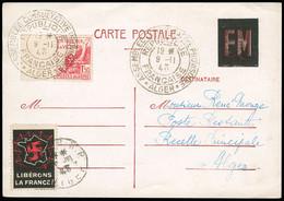 ALGERIE Même Entier Postal Mais Avec Algérie N°198 +CAD De L'Assemblée Consultative Provisoire D'Alger. TB - Storia Postale