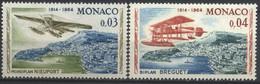 Monaco, 1964, Rally Aérien De Monte-Carlo, Nieuport 0,3 C., Breguet 0,4 C., MNH** - Ungebraucht