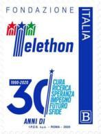Italia - 2020 - Usato/used - Telethon - 2011-...: Afgestempeld