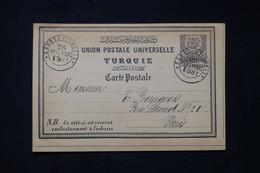 TURQUIE - Entier Postal De Constantinople Pour Paris En 1881 - L 87469 - Covers & Documents