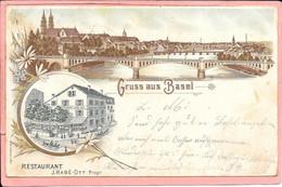Gruss Aus Basel Bâle Restaurant J; Habé Ott Propriétaire Cachet Dos Basel Ausstellung Et Altkirch - BS Basle-Town