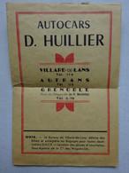 Dépliant Autocars D. Huillier Horaires Circuits Publicités Vercors Villard De Lans Autrans Grenoble Isère Année 1951 - Altri