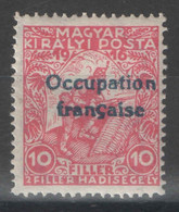 Hongrie - YT 1 * MH - 1919 - Surcharge Bleue - Used Stamps